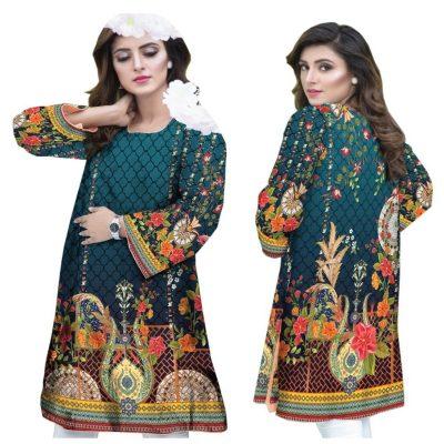 Sufia Fashions ® Women Indian Winter Kurta Kurti khaddar Imprimé Numérique Tunique